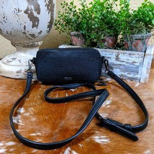 Vtg Reed Leather Camera Crossbody Bag